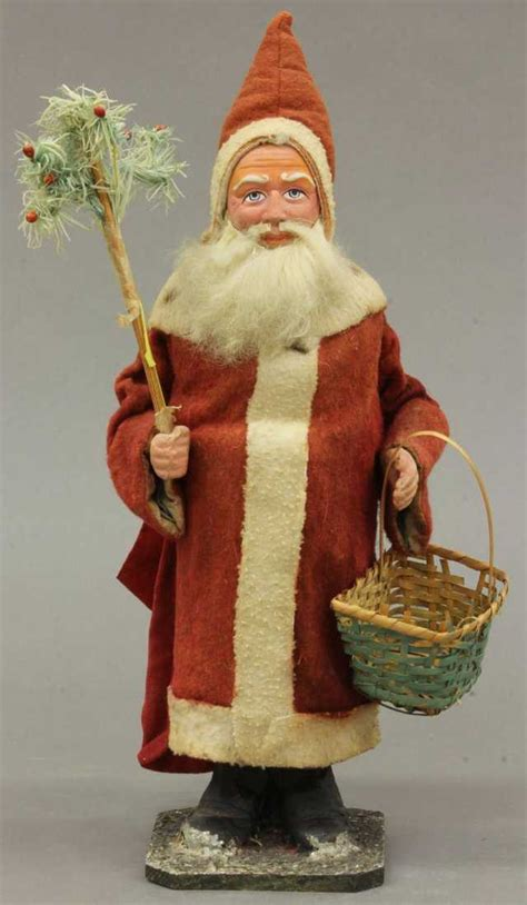 VINTAGE SANTA CLAUS CANDY CONTAINER height- 15