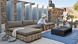 Salon De Jardin Rotin Tressé : du mobilier en rotin installer dans le jardin comme au ~ Premium-room.com Idées de Décoration
