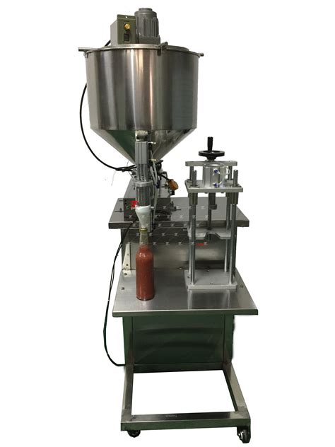 beer glass bottle semi automatic tomato sauce filling machine  capping machine factory china