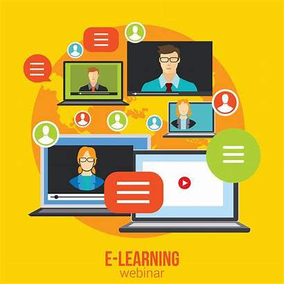 Learning Training Distance Webinar Education Vector Chat
