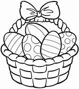 Easter Basket Coloring Pages Printable Getcolorings sketch template