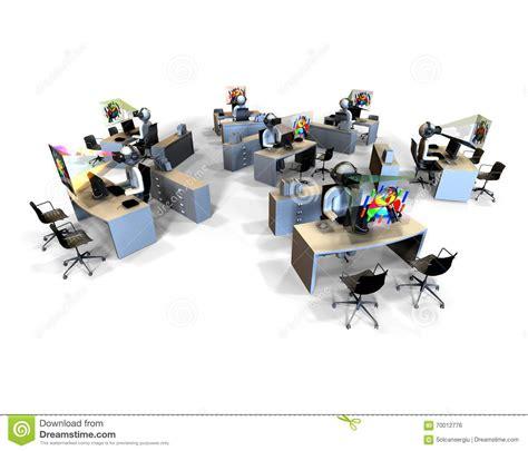 bureau virtuelle concept de bureau de réalité virtuelle illustration stock
