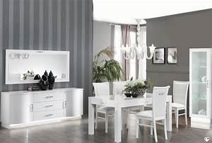 Salle A Manger Laque Blanc : adriano laque blanc ensemble sejour salle a manger ~ Teatrodelosmanantiales.com Idées de Décoration