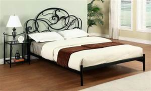 Wrought Iron Headboard Rustic Sassafras Twin Bed Frame