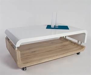 Table Basse Blanche Et Verre : table de salon laque blanc valdiz ~ Preciouscoupons.com Idées de Décoration