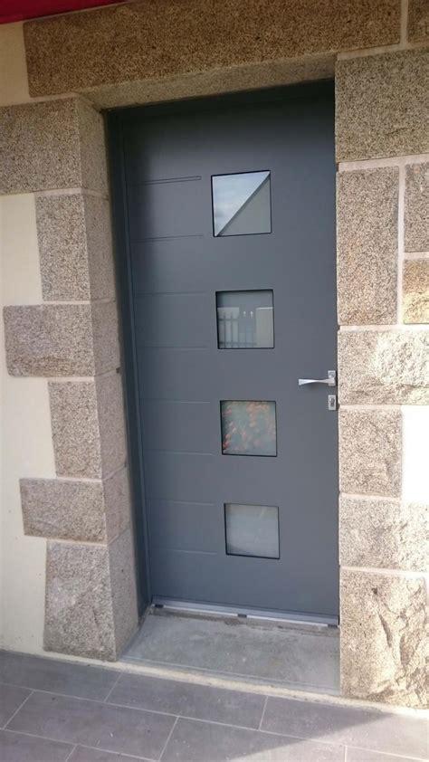 porte d entree moderne alu porte d entr 233 e en aluminium mod 232 le becker r 233 alisation solabaie chatelaudren
