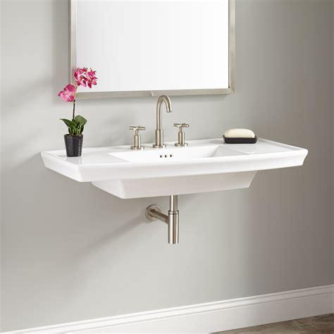 wall mounted basin sink olney porcelain wall mount sink bathroom
