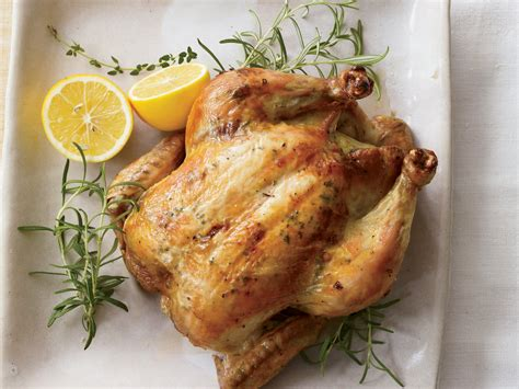 herb roasted chicken herb and lemon roasted chicken recipe grace parisi food wine