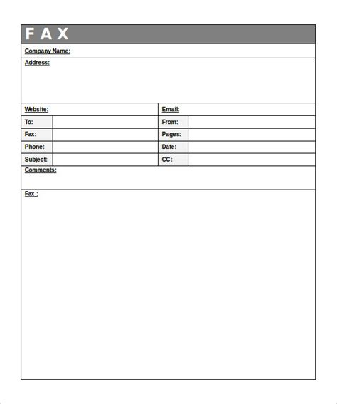 generic fax cover sheet   word  documents