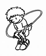 Jump Rope Coloring Pages Jumping Template Printable Sheets Dirt Bike sketch template