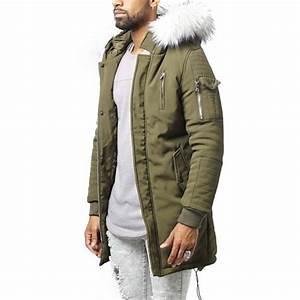 Parka Fourrure Blanche Homme : project x parka homme fashion kaki fourrure blanche ~ Melissatoandfro.com Idées de Décoration