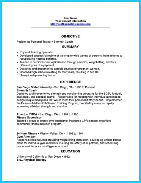 Athletic Resume Template by Athletic Trainer Resume Resume Ideas