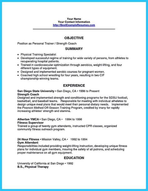 Sle Athletic Resume by Athletic Trainer Resume Resume Ideas