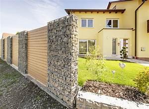 Gabionen Als Sichtschutz : die gestaltende sichtschutz mit gabione naturinform ~ Articles-book.com Haus und Dekorationen