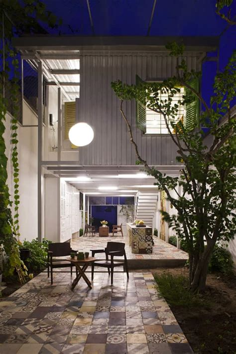 Industrial Steel Stilt House  Open Main Level