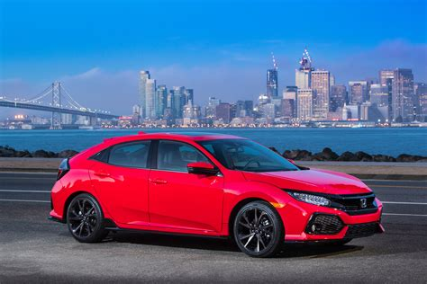 Honda City Backgrounds by Car Honda Civic Touring Hatchback 2017 Against The