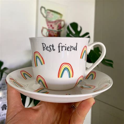 After so much turmoil and. Personalised rainbow cup and saucer