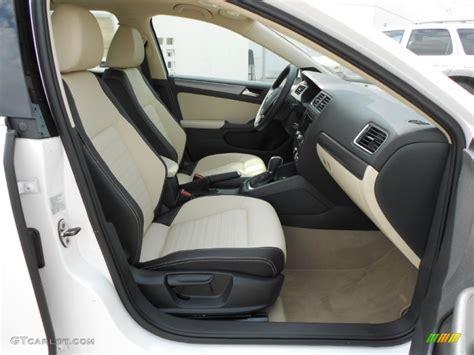 Cornsilk Beige Interior 2012 Volkswagen Jetta Sel Sedan