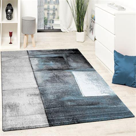 designer teppich modern kurzflor wohnzimmer trendig meliert t 252 rkis creme grau wohn und