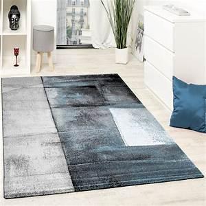 Türkische Teppiche Modern : designer teppich modern kurzflor wohnzimmer trendig meliert t rkis creme grau wohn und ~ Markanthonyermac.com Haus und Dekorationen