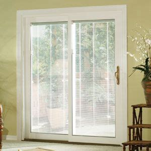 Blinds between glass are available for our french doors. Sliding Glass Door Idea   Door coverings, Sliding door ...