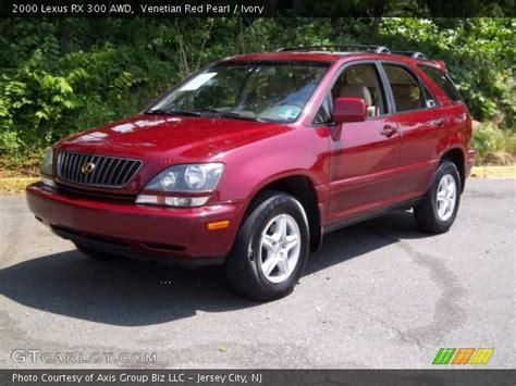 lexus rx red interior venetian red pearl 2000 lexus rx 300 awd ivory