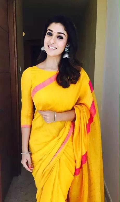 amazing pictures  nayanthara  saree styles  life