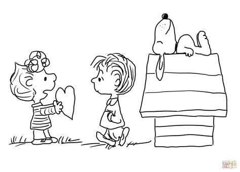 Snoopy Valentine Coloring Pages - Costumepartyrun