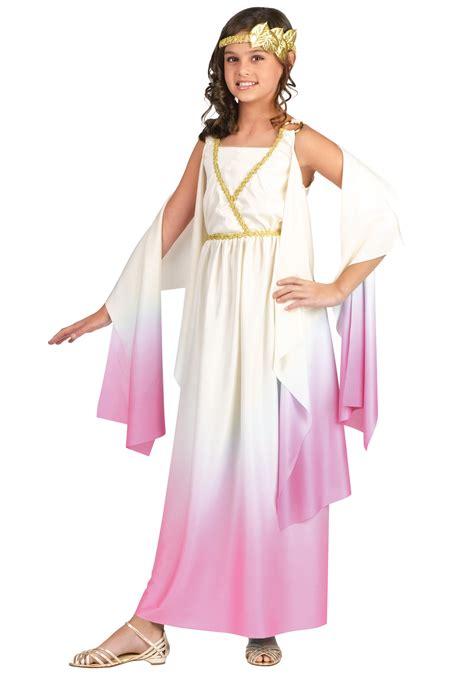 Girls Roman Goddess Costume - Kids Greek and Roman Costumes