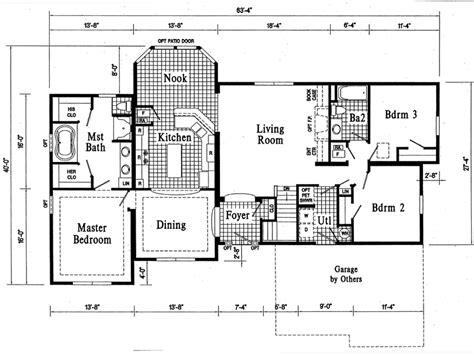Custom Ranch Floor Plans by Custom Ranch House Plans Smalltowndjs