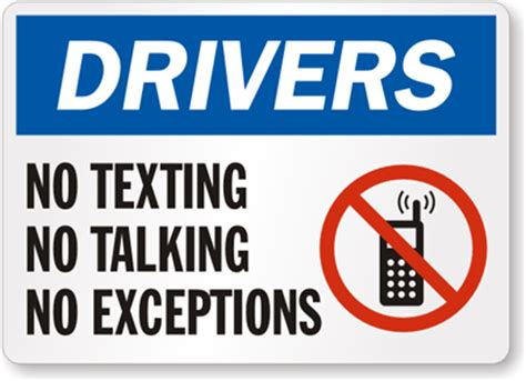 No Texting, No Talking, No Exceptions Sign  Road Safety. Playroom Signs Of Stroke. Ready Signs Of Stroke. Basketball Court Signs Of Stroke. Physical Exam Signs. Blisters Signs. Synchronization Signs. Pregnancy Signs Of Stroke. Faucet Signs Of Stroke