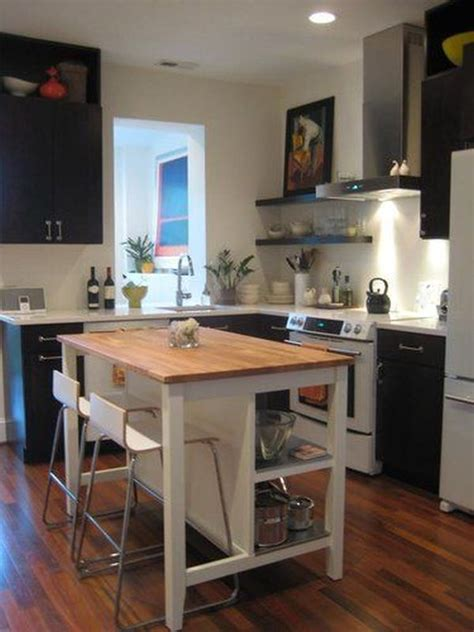 small kitchen island with bar stools how to save space with a kitchen island cocinas mesa 9336