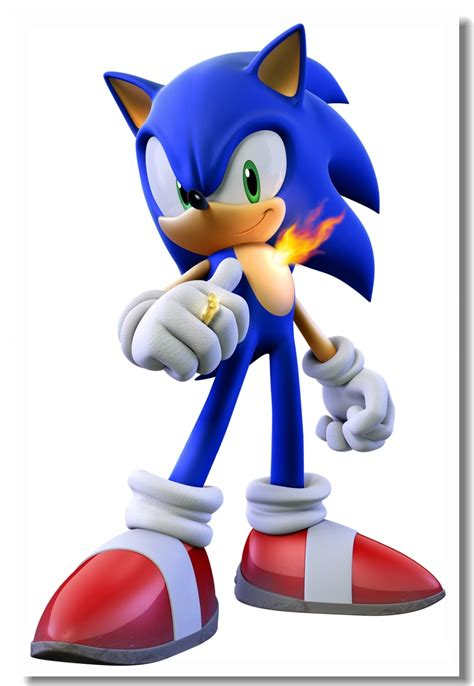 Custom Canvas Wall Mural Sonic The Hedgehog Poster Sonic ...