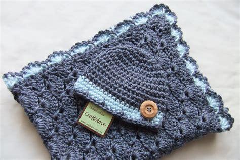 Baby Boy Shower Gift Set Baby Boy Blanket Denim Blue