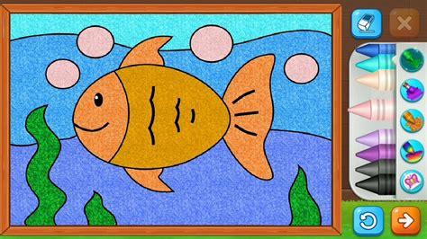 mewarnai gambar ikan laut lucu untuk anak mudah loh