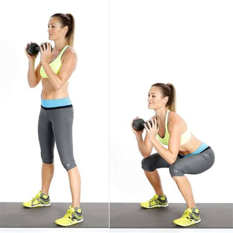 squats weighted popsugar squat goblet leg exercises fitness
