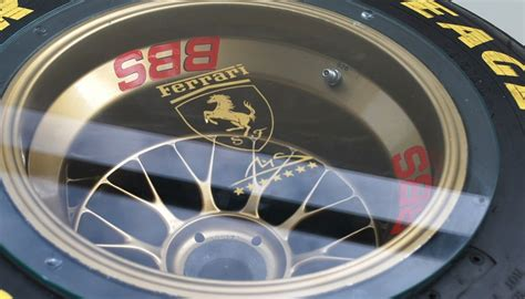 original ferrari  bbs rear wheel coffee table charitystars