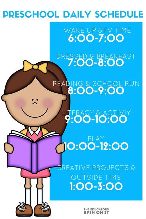 preschool daily schedules   home play  learning