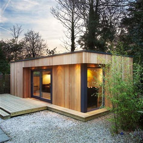 wooden garden room green roof garden room designs