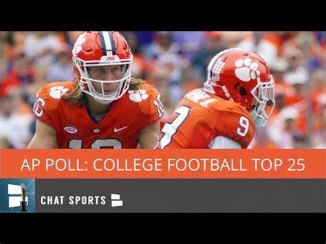 AP Poll: College Football Top 25 Rankings For Week 10 ...