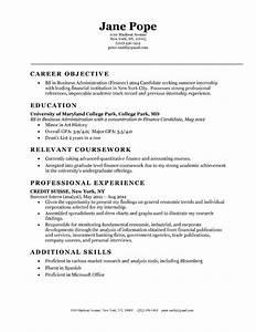 Sample Resume Objectives For Entry Level
