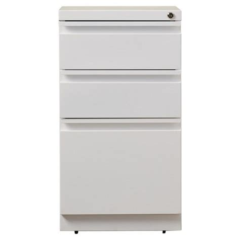 hirsh industries 3 drawer mobile file white filing cabinet