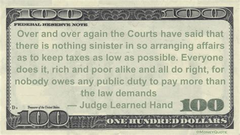 judge learned hand taxes    money quotes