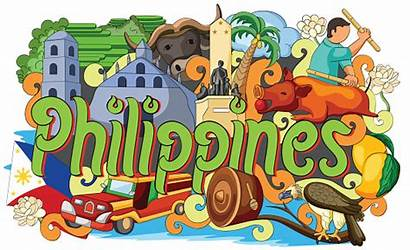 Culture Filipino Philippines Vector Doodle Clip Showing