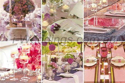i weddings reception ilovethese pink and purple table setting ideas