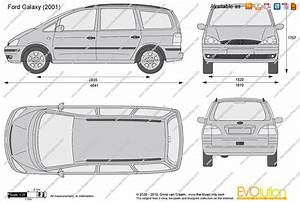Ford Galaxy Vector Drawing