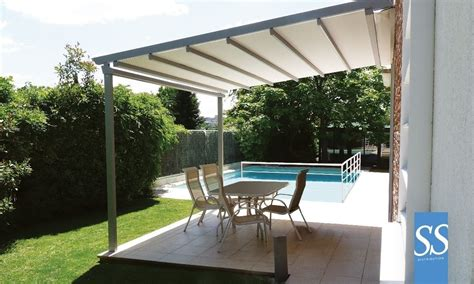 pergola bioclimatique toile motoris 233 e r 233 tractable