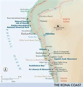 Kona Coast Hawaii Map