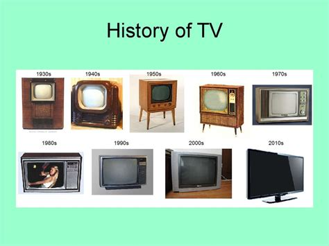 History Of Tv  презентация онлайн