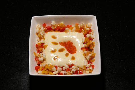 Cours De Cuisine Lenotre - méli mélo de calmar crémeux de pommes de terre aux œufs